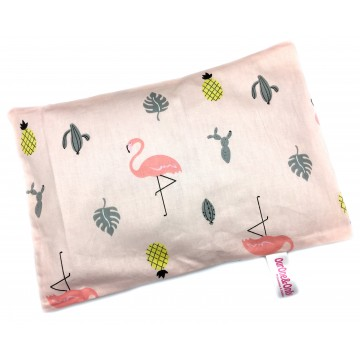 Flamingo Full Cotton Short Husk Pillow