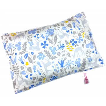 Blue Secret Forest Cotton Short Husk Pillow