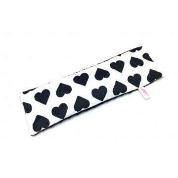 Black Hearts Full Minky Long Husk Pillow