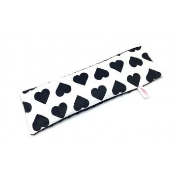 Black Hearts Full Minky Long Husk Pillow