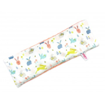 Hopping Bunnies Full Minky Long Husk Pillow