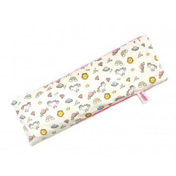 Sunshine Unicorn Full Minky Long Husk Pillow