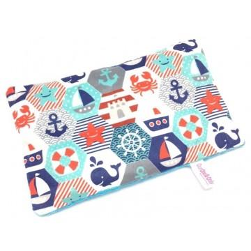 Nautical Hexagon Full Minky Short Husk Pillow