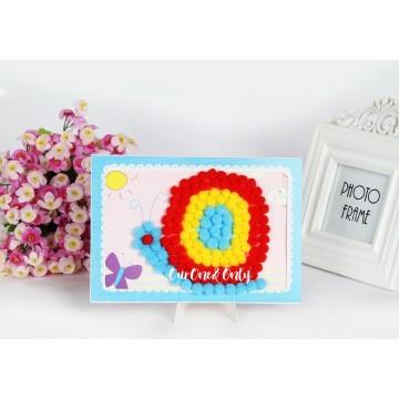 Pom Pom Ball Mosaic Art
