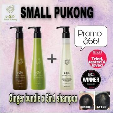 Ginger Root Shampoo + Hair Mask + Revitalizing Shampoo Bundle