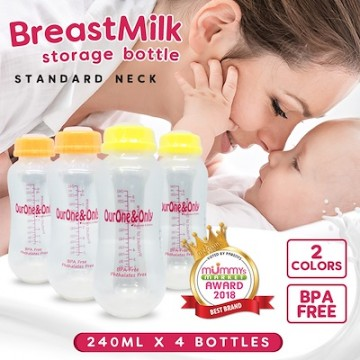 Standard Neck Breastmilk Storage Bottles (240ml)