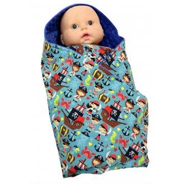 Let's Be Pirates Swaddle Blanket