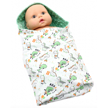 Party Dino Swaddle Blanket