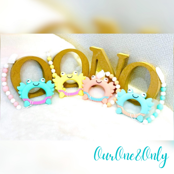 Crabby Crab Teether Clip Set