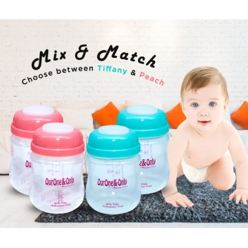 Wide Neck Breastmilk Storage Bottles (150ml)