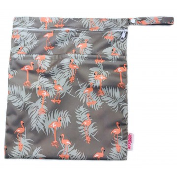 Grey Flamingo Waterproof Wetbag