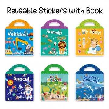 Reusable Stickers with Book